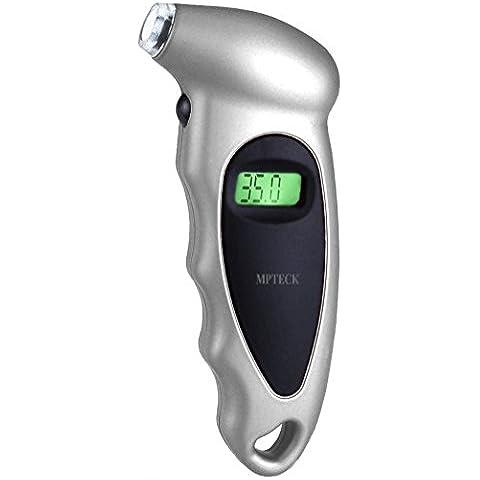 MPTECK @ LCD Calibrador de Presión Medidor Digital de Presión Coche Neumáticos Manómetro Presión electrónico para el coche auto de la