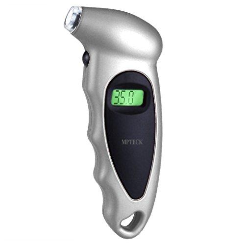 MPTECK @ LCD Calibrador de Presión Medidor Digital de Presión Coche Neumáticos