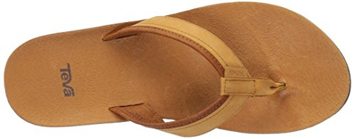 Teva Damen Azure Flip Leather W's Zehentrenner Beige (Tan)
