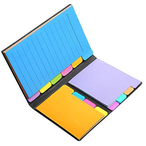 Skydue Haftnotizen, Lesezeichen-Sticker mit Farbkodierung, 60 linierte Notizen, 48 gepunktete Notizen, 48 leere Notizen, 96 Haftnotizen insgesamt, 252 Register