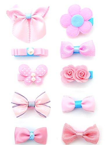 Wunderschöne Haarclips, Schleifen und Haarspangen für Babys und kleine Mädchen, hochwertiges Haarschmuck Set (Haare Haarspangen Für Kleine Mädchen)