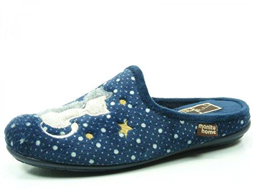 Manitu 320470 Pantofole Donna Blau