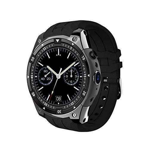 AnSuu X100 Smart Watch 3GWIFI-Herzfrequenz-Stecker-Cartoon-Wort-Smart-Watch (Farbe : SCHWARZ)