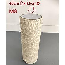 14c0770b2586c2 Ersatzstamm (1 Stuck) für Qualitäts Kratzbäume Kratzbaum 15cmØ und 40 cm  Länge m8 gewinde