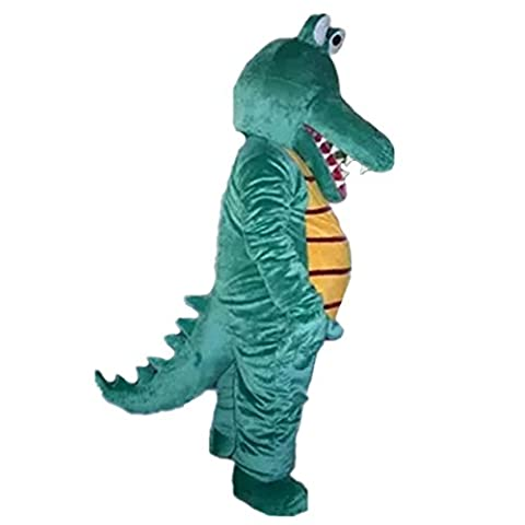 Mascottes Cartoon Costumes - Cartoon Crocodile Vert Costume Halloween Party robe