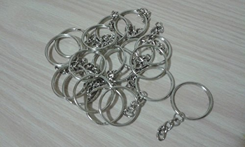 Packung mit 20 Ringen für Schlüsselring mit Verteiler und Kette, ideal für Handwerk Ringe, Ergebnisse