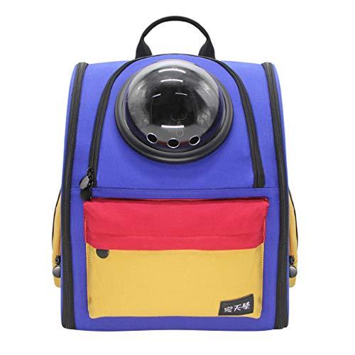 PLDDY Haustier Tasche Haustier-Rucksack heraus tragbare Hundekatze-Raumkapsel-Mitnehmen kann 7.5kg Haustier unterbringen (blau)