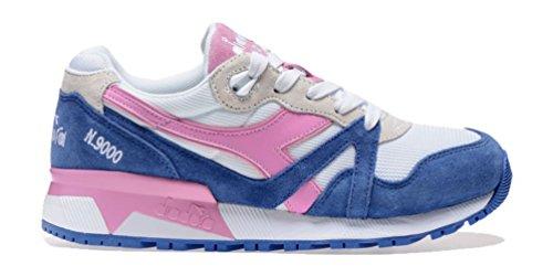 Diadora N9000 Jr, Sneaker a Collo Basso Unisex – Bambini Blu (Blu Principessa/Rosa Fucsia)