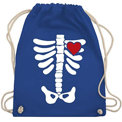 Halloween - Skelett Herz Halloween Kostüm - Unisize - Royalblau - WM110 - Turnbeutel & Gym Bag