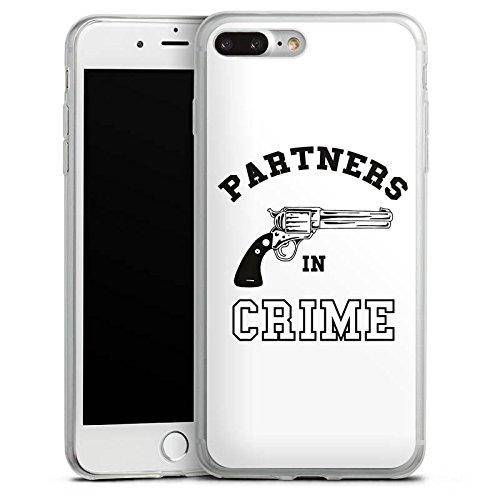 Apple iPhone 8 Slim Case Silikon Hülle Schutzhülle Pistole Crime Freundschaft Silikon Slim Case transparent