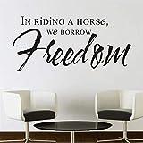 Mhdxmp In Riding A Horse Prendiamo In Prestito La Libertà Art Wall Sticker Camera Da Letto Sfondo Rimovibile Home Decor Impermeabile Art Decal126 * 59 Centimetri