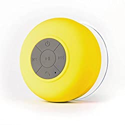 Water Proof Bluetooth Shower Speaker With Mic (Multicolor)