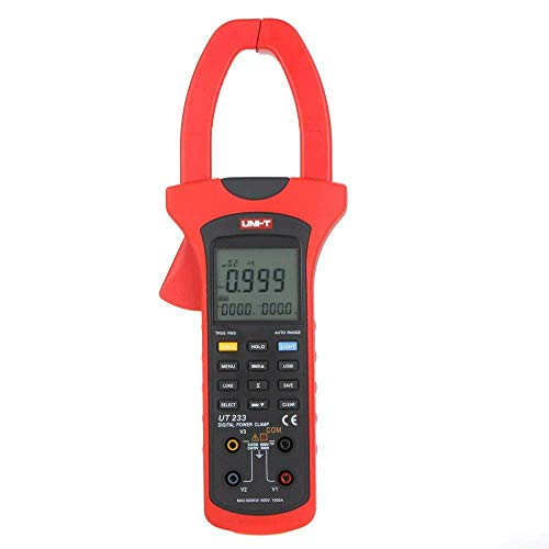UT233 Dreiphasen 600KW Power Clamp Meter Echteffektivwert Digital Clamp Meter Phasenfolge Tester USB-Schnittstelle Power Clamp Meter