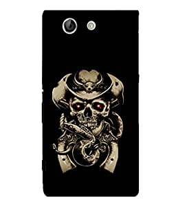 printtech Cowboy Skull snake Back Case Cover for Sony Xperia Z4 Mini::Sony Xperia Z4 Compact
