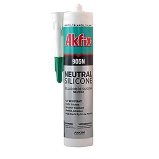 Akfix SA512 905N Silicone Neutral, White, 10.5 fl. oz. (310 mL)