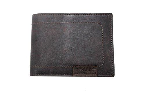 Portafogli uomo Gian Marco Venturi l.Vintage mod.con portamonete 85282 marrone