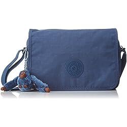 Kipling - Delphin N, Bolsos bandolera Mujer, Blau (Jazzy Blue), 15.5x23.5x5 cm (B x H T)