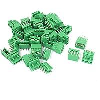 Blocco terminale - TOOGOO(R) 26 serie di blocco terminale di passo 5.08mm d¡¯angolo retto 4 spilli PCB a innesto.