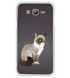 Grumpy Cat 2D Hard Polycarbonate Designer Back Case Cover for Samsung Galaxy J7 J700F (2015 Old Model) :: Samsung Galaxy J7 Duos :: Samsung Galaxy J7 J700M J700H