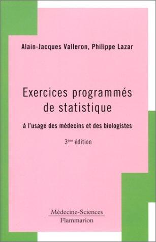 exercices-programms-de-statistique-a-l-39-usage-des-mdecins-et-des-biologistes