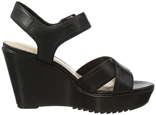 Clarks Scent Sky Damen Slingback Sandalen Schwarz (Black Leather)