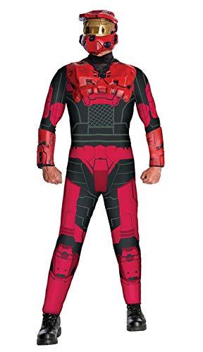 (Horror-Shop Red Spartan Halo Red Team Kostüm)