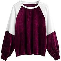 Btruely Pullover Damen Patchwork Winter Herbst Hoodie Sweatshirt Langärm Outerwear Bandge Pullover preisvergleich bei billige-tabletten.eu
