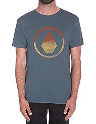 Volcom Canvas Stone BSC SS T-shirt à manches courtes pour homme, couleur gris bleuté, Taille