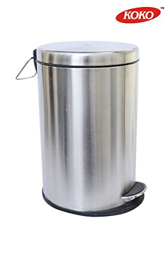 Shapes Stainless Steel Plain 5 L Pedal Dustbin