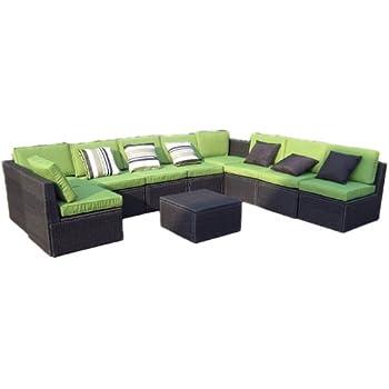 Gartenmöbel sitzgruppe rattan lounge  Amazon.de: Gartenmöbel 10tlg. Sitzgruppe Poly Rattan Lounge Garten ...