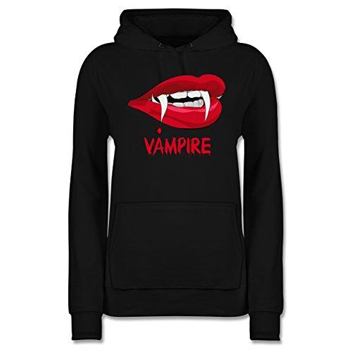 - Vampire Blut - XXL - Schwarz - JH001F - Damen Hoodie (Goth Mädchen Hexe Kostüme)