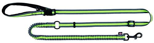 Trixie 12763 Joggingleine, 1,33-1,80 m/20 mm, grau/grün