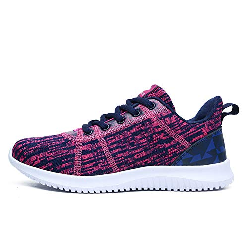 MXQH Donne Casual Sport Running Scarpe Air Formatori Jogging Fitness Shock Assorbente Palestra Athletic Sneakers,deepblueplum,37