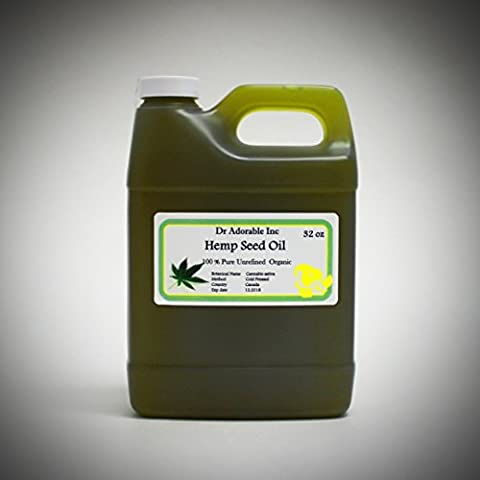 Hemp Seed Oil A Level of Beauty & Health 32 Oz/1 Quart