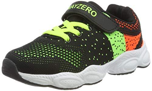 MAYZERO Unisex-Kinder Sneakers Laufen Schuhe Sportschuhe Sneakers Jungen Mädchen Low-Top Sneakers (34 EU, Grün#1)