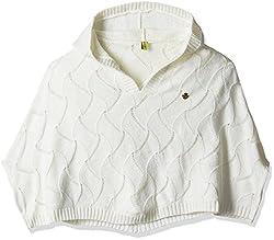 Gini & Jony Girls Sweater (122080061097 1202_Off White _13 - 14 years)
