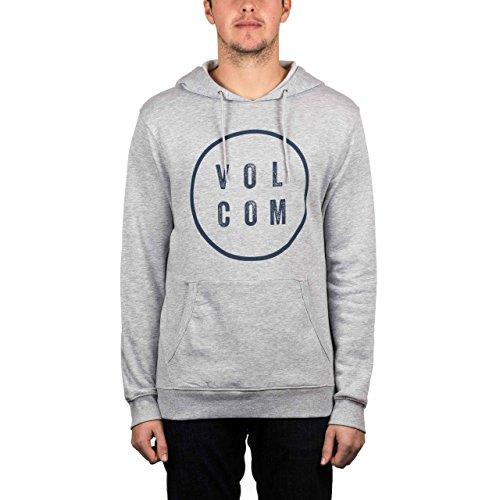 Volcom Daily Pullover Fleece Hood Heather Grey Heather Grey
