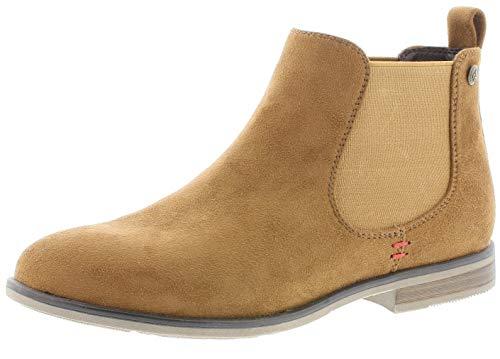 Rieker Damen Stiefeletten 90064, Frauen Chelsea Boots, Freizeit Stiefel halbstiefel Bootie Schlupfstiefel gefüttert Damen,Brandy,36 EU / 3.5 UK
