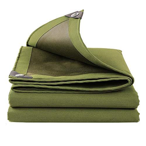 Dick einfach beschichtete Leinwand Plane 600 g/m² Tuch verschütten draussen Sonnencreme Schattierung Wärmedämmungstuch Regenfestes Tuch Markisentuch Visiertuch 4 * 6m -
