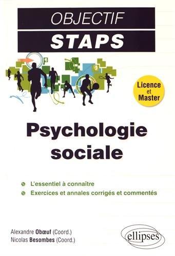 Psychologie Sociale Objectif STAPS par Alexandre Besombes