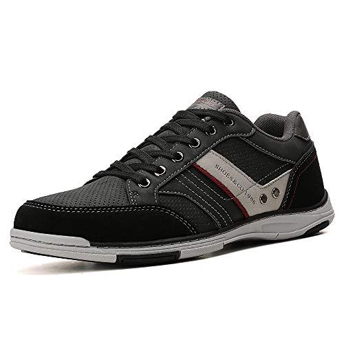 AX BOXING Freizeitschuhe Herren Berufsschuhe Sneaker Wanderschuhe Trainers (43 EU, A9099-Schwarz)