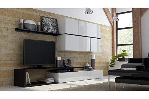Ensemble Meuble tv design ROYA - blanc et noir