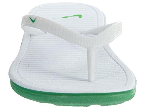 Nike NIke Wmns Solarsoft Thong II, Ciabatte da spiaggia uomo Nero nero WHITE///SPRING LEAF