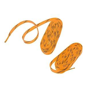 Sharplace 2pcs Schnürsenkel Flache Schuhbänder für Schlittschuhe, Eishockey, 244cm/275cm/305cm