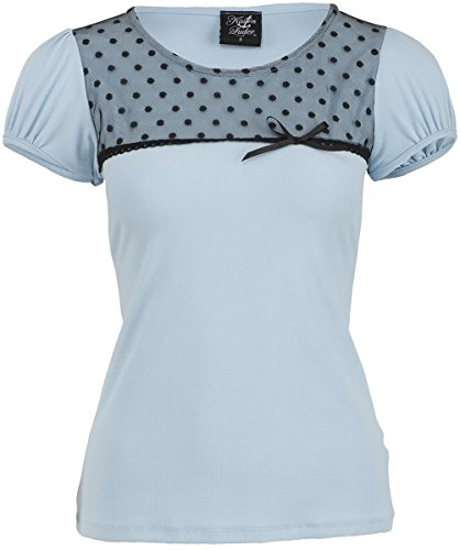 Küstenluder CHARLSIE Nostalgic Polka Dots TULLE Vintage Pin Up Shirt Rockabilly