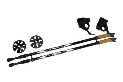 WOLF BLACK POLE, Nordic, sport, snowshoeing poles, 140 cm