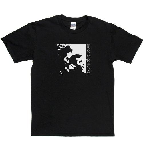 Simon & Garfunkel American Folk Rock Duo Paul Art Music T-shirt Schwarz