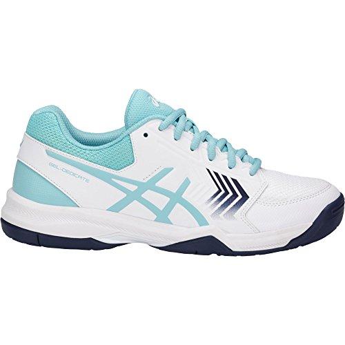 Asics Gel-dedicate 5, Chaussures De Tennis Multicolores Pour Femmes (whiteporcelain Blueindigo Blue 0114)