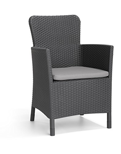 Allibert by Keter Miami Outdoor Garden Chair - Graphite