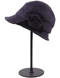 Categoría sombreros de mujer, Nueva elegancia exterior cálida señoras invierno Gorra Cap ,Azul marino
